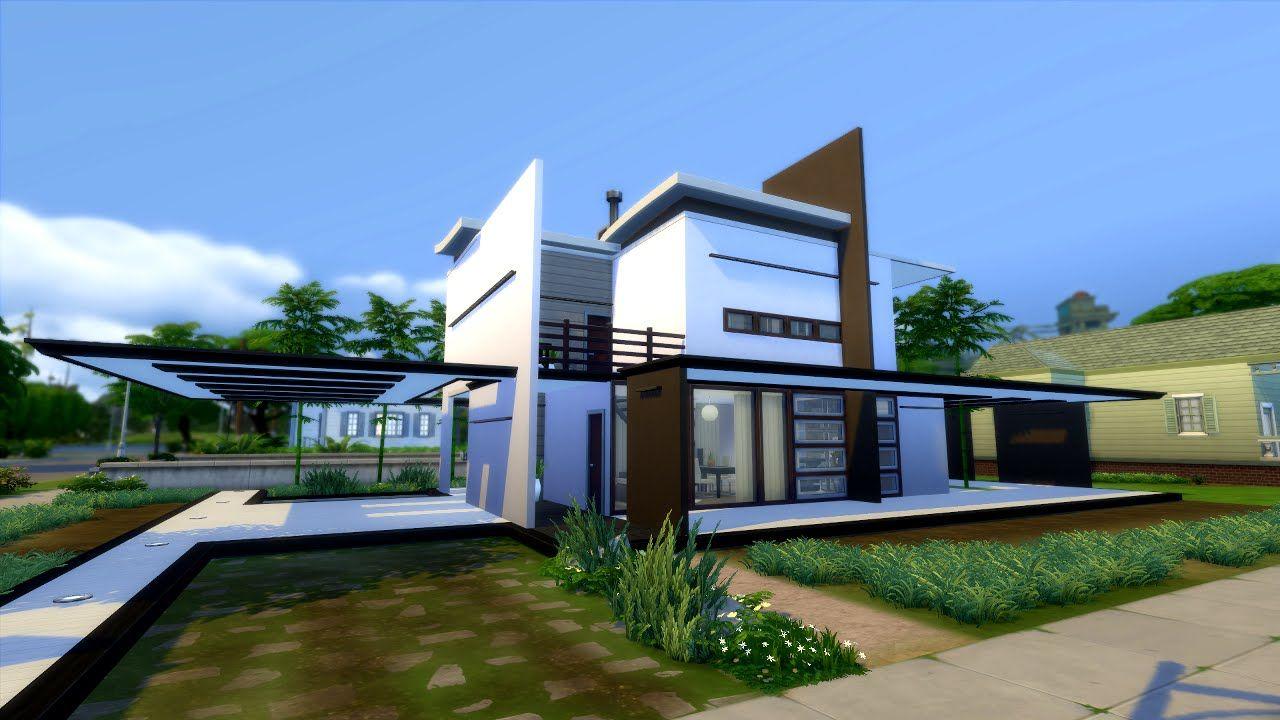 The Sims 4 Modern House NO CC - Modegant restyle | Sims 4 ...