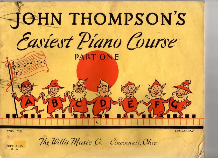piano JOHN THOMPSON/'s Easiest Piano Course Part One
