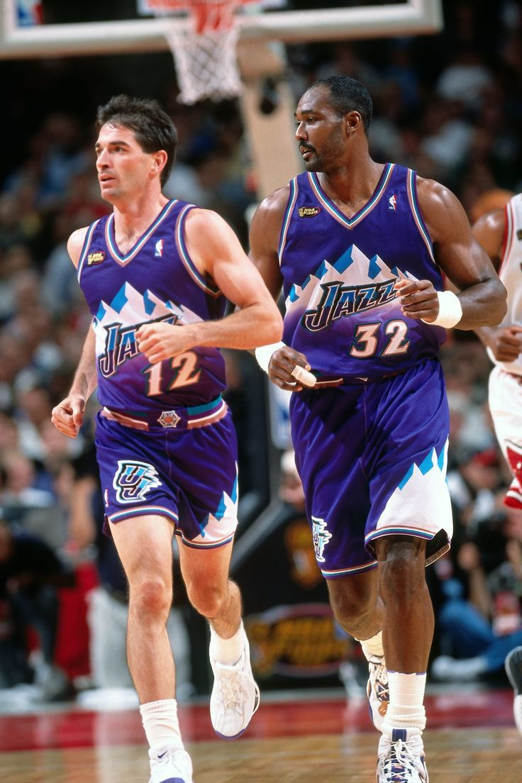 e2cd53acc Original art of two NBA Hall of Fame inductees Karl Malone and John Stockton.  Description