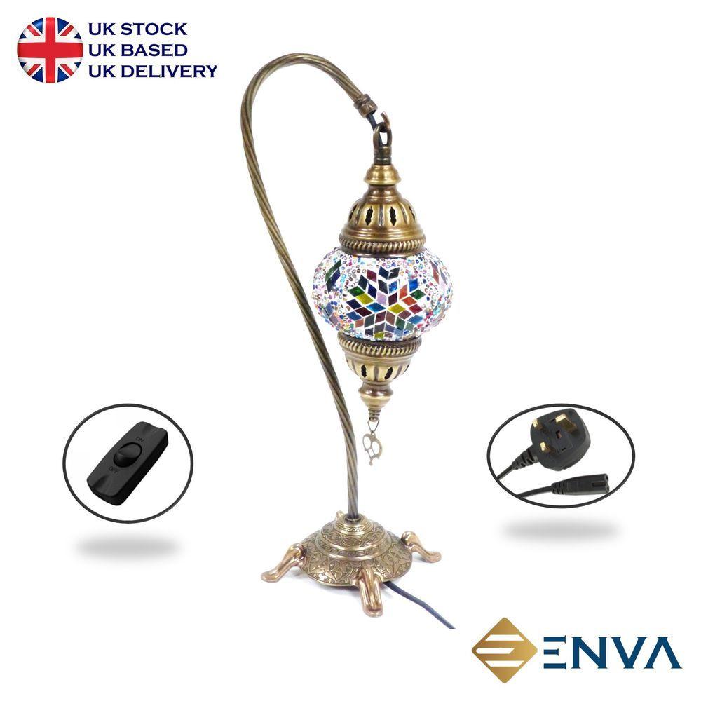 Turkish Moroccan Tiffany Mosaic Table Lamp Lampshade Hand Made Small Globe