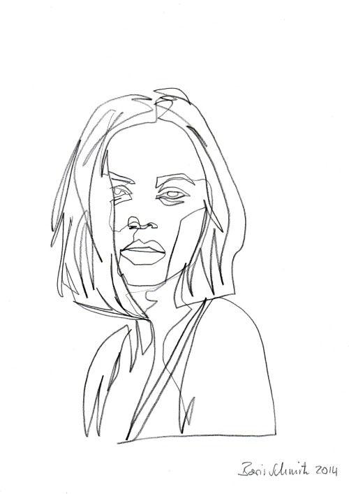 Contour Line Drawing People : Boris schmitz portfolio → sketch drawings art