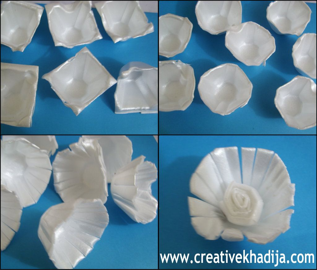Recycling with eggs carton styrofoam great holiday and for Egg tray craft ideas