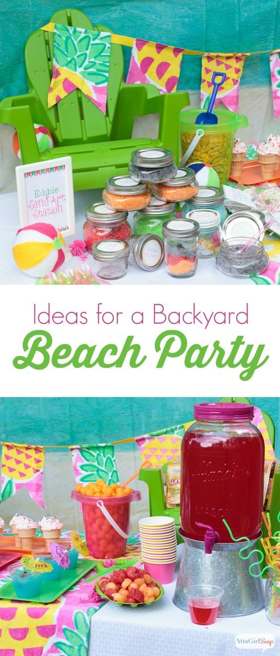 Backyard Beach Party Ideas Summer Party Ideas Pinterest Party