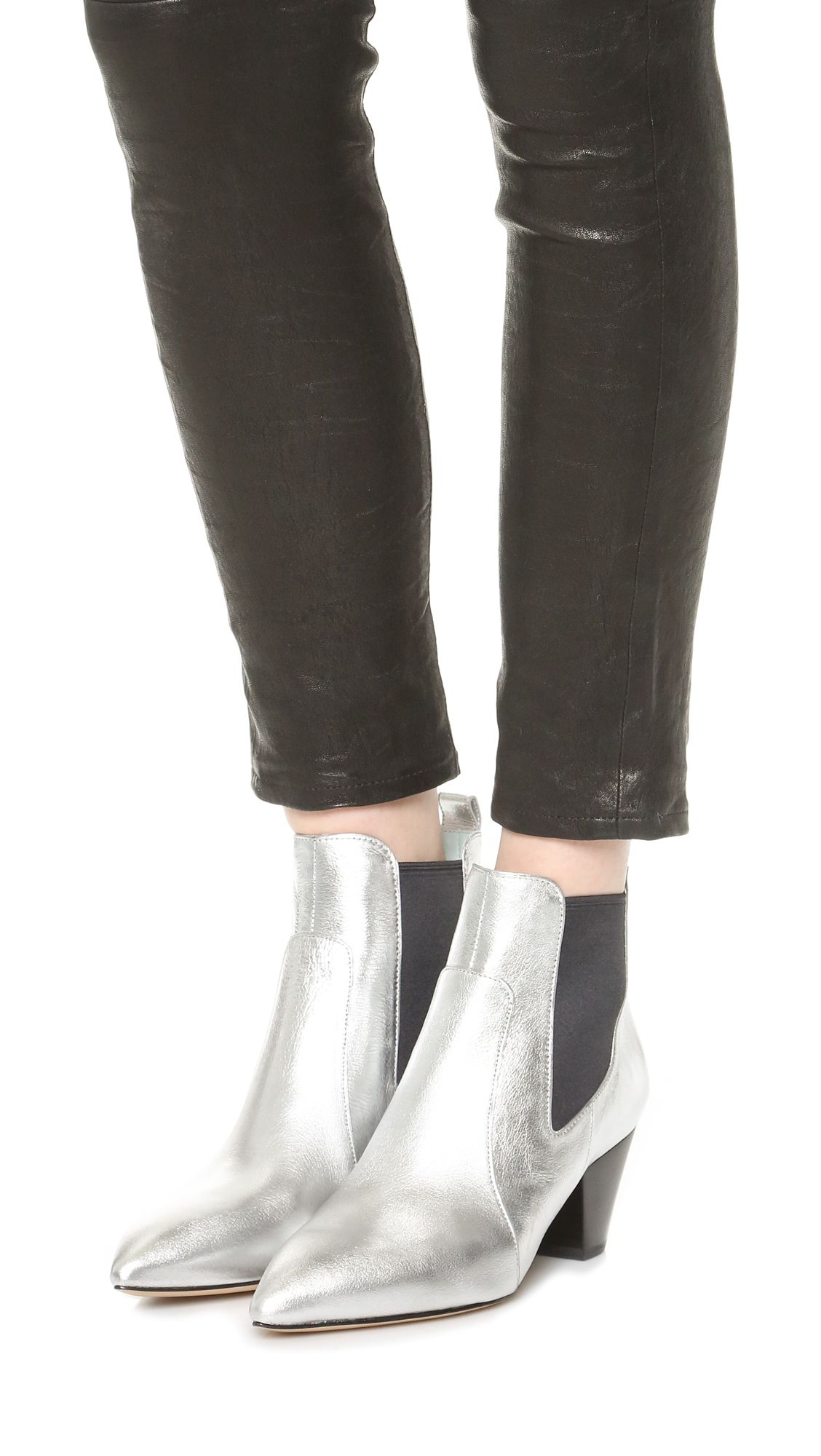 90159ccf2e8 Marc jacobs kim chelsea booties boots silver Bottines