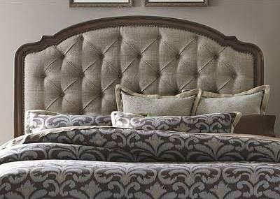 Upholstered Headboard Wood Trim Upholstered Headboard Panel Headboard Liberty Furniture Upholstered bed with wood trim