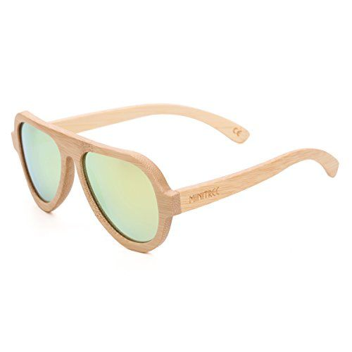 0a11e225f441c Mini Tree Womens Aviator Sunglasses Polarized Men Handmade Bamboo Sun Shades  With Bamboo Case