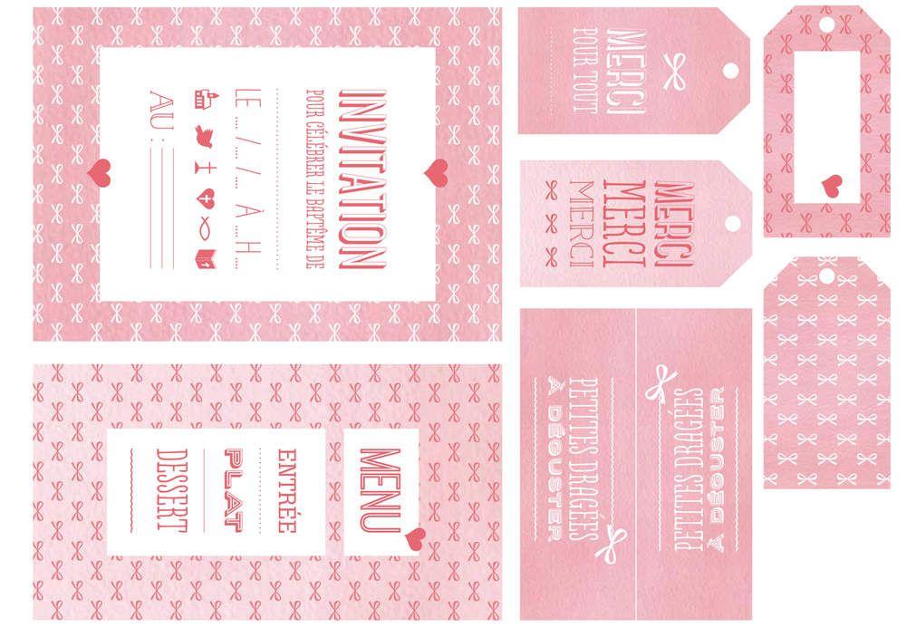 Nos Etiquettes Pour Un Bapteme Printables Etiquettes