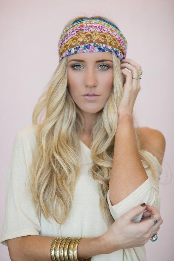 Boho Headband Cute Hair Bands Patchwork Head Wrap