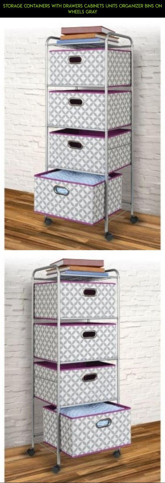 Storage containers with drawers cabinets units organizer bins on