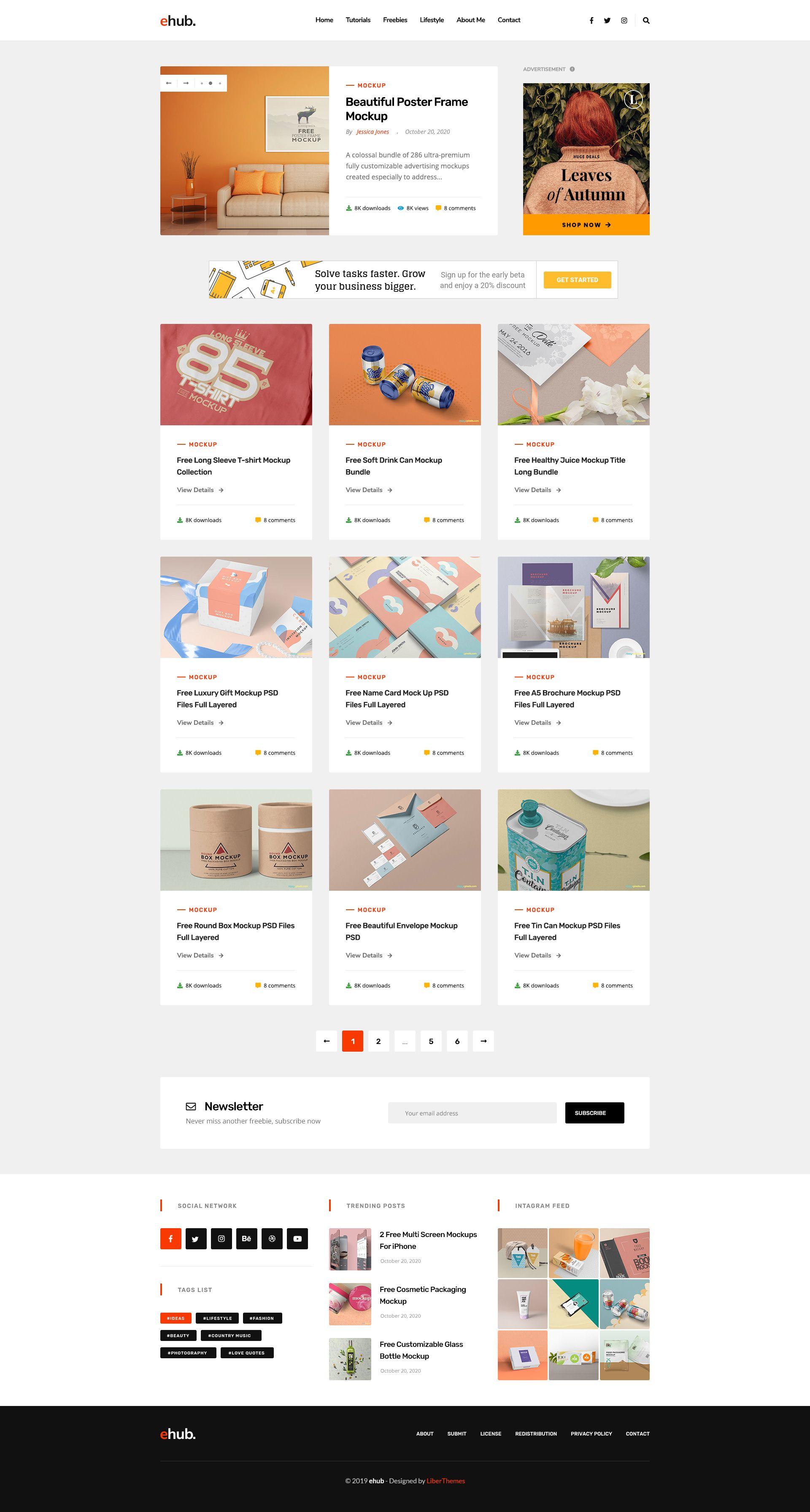 Ehub Free Resources Tutorials Blog Psd Template Resources Amp Ehub Free Psd Templates Website Template Templates
