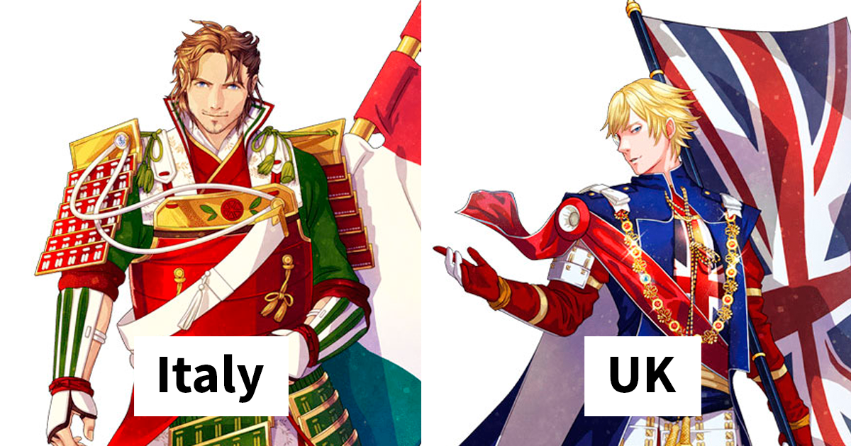 If Country Flags Were Anime Characters (30 Photos) Anime