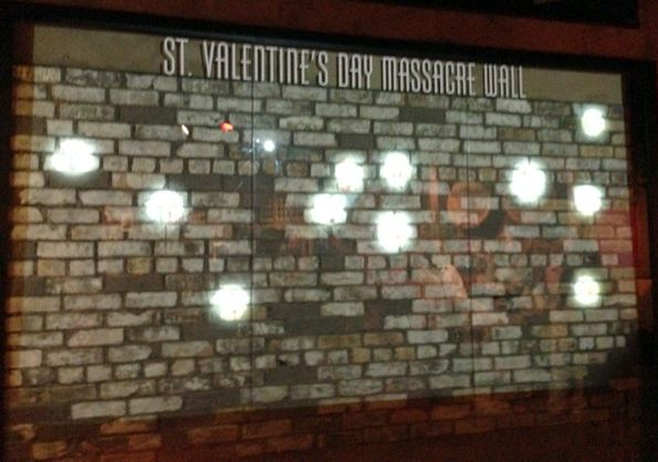 A Recreation Of The St Valentine S Day Massacre Wall Made From The