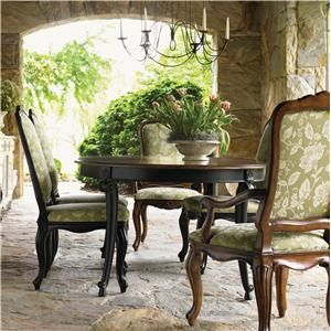 Drexel Heritage® At Home In Belle Maison 7 Piece Dining Set With Unique Heritage Dining Room Furniture Design Ideas