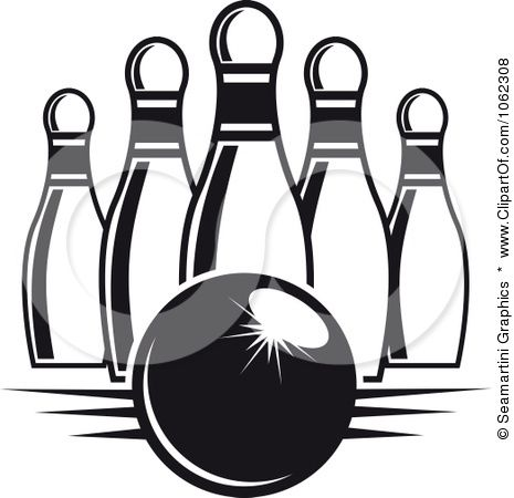 Clipart Bowling Ball And Pins In Black And White 6 Royalty Free Vector Illustration By Seamartini Free Vector Illustration Clip Art Free Photoshop Resources