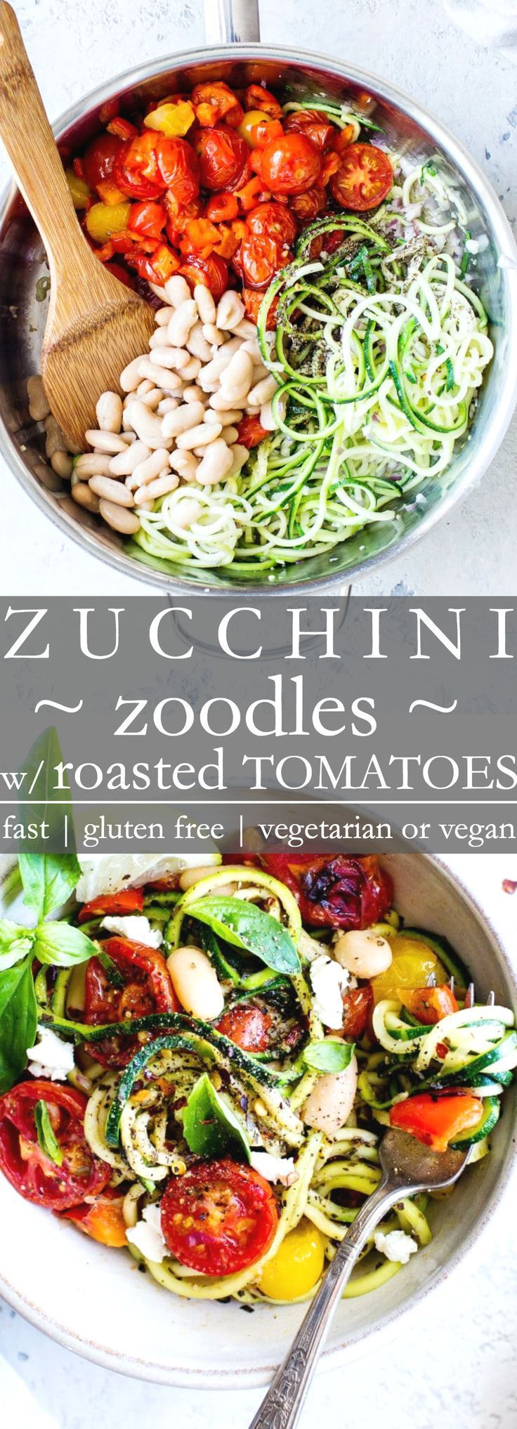 Zucchini Noodles (Zoodles) with Roasted Cherry Tomatoes | Vanilla And Bean -   18 healthy recipes Pasta veggie noodles ideas