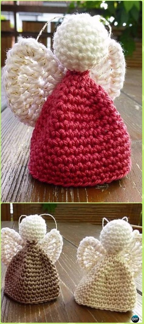 Crochet Angel Free Patterns & Tutorials | Easy christmas ornaments ...