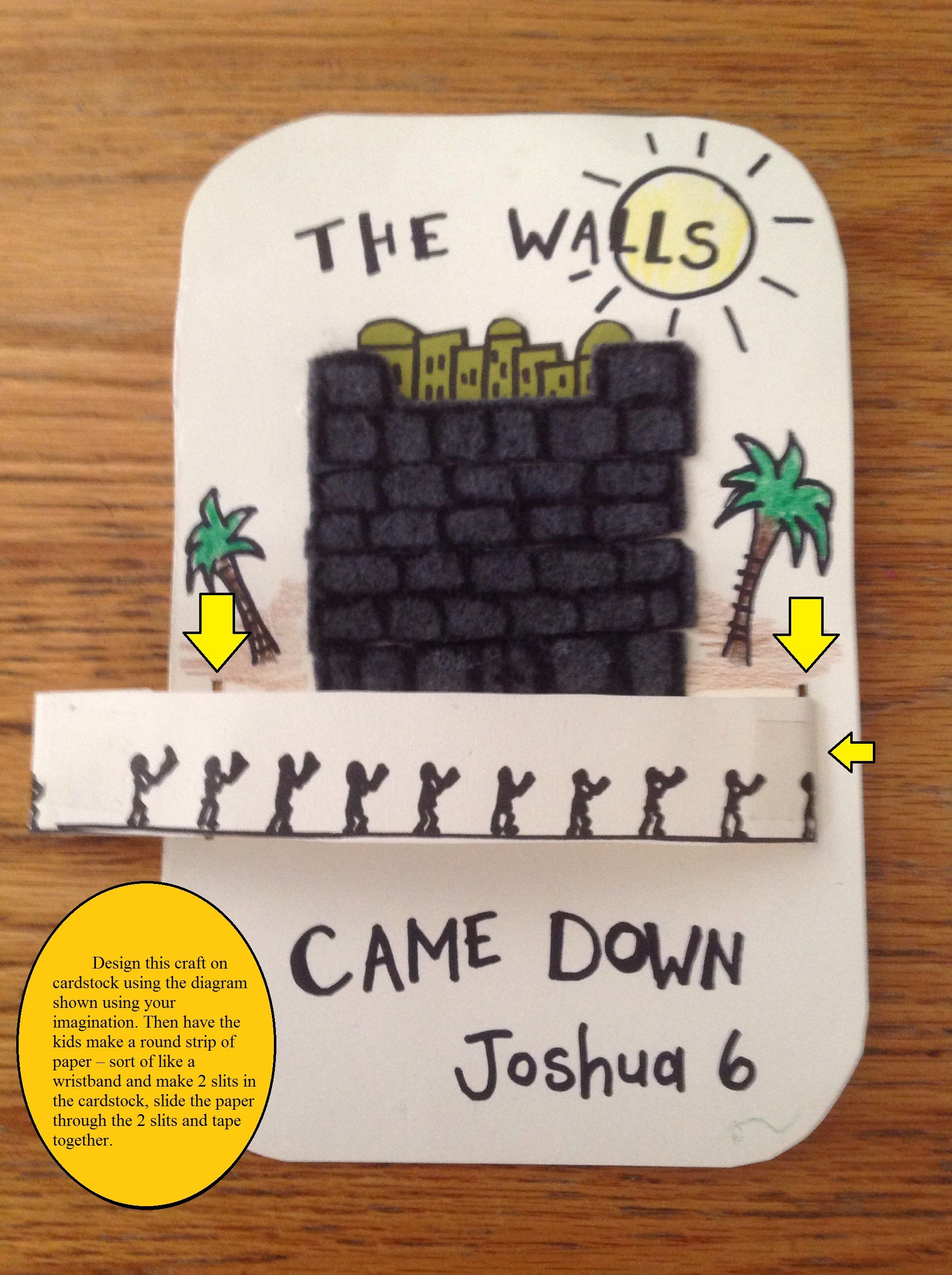 Bible craft for preschoolers - Joshua Walls Of Jericho Bible Craft Marchers Spin March Around The Walls