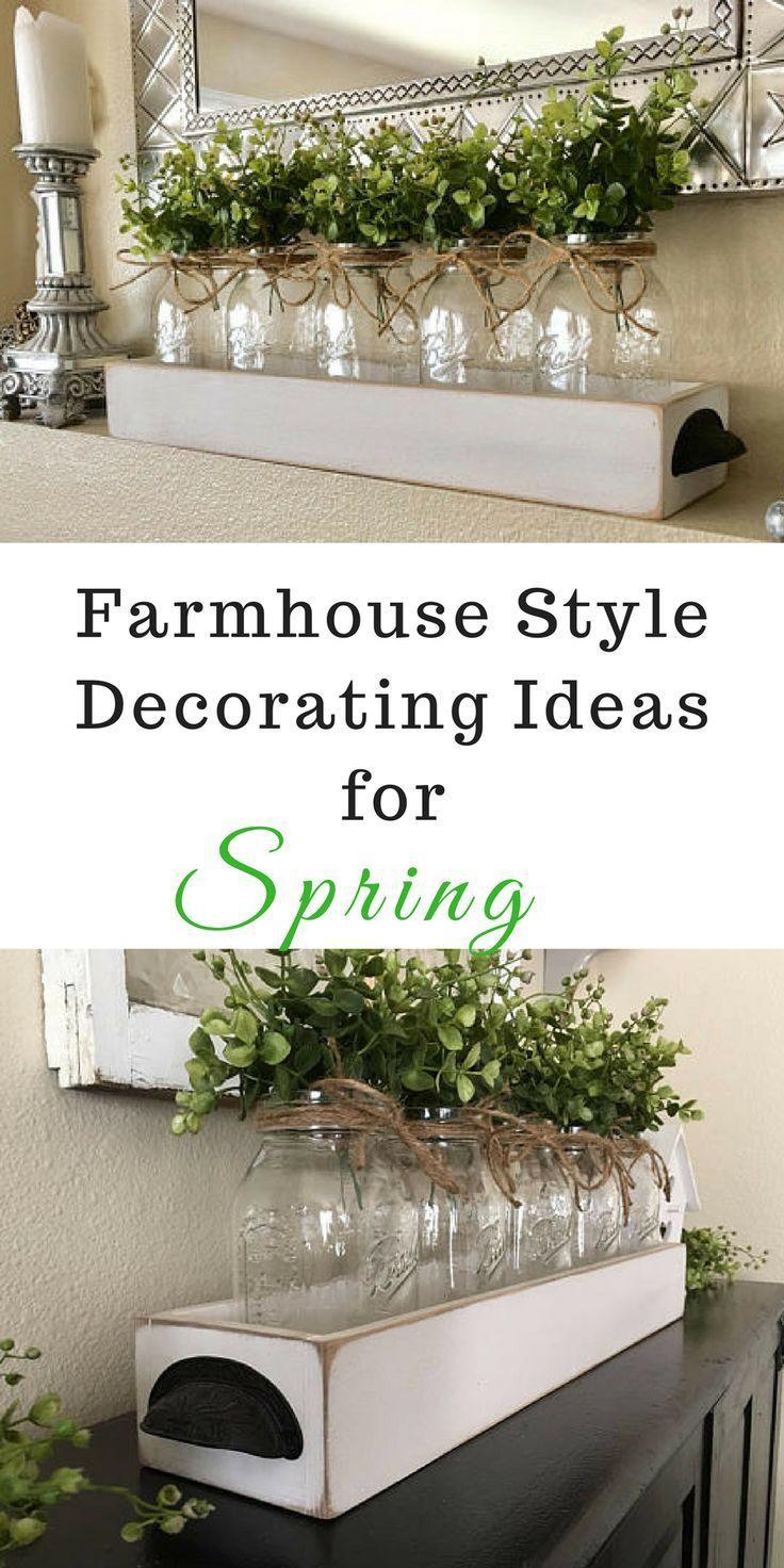 5 Quart Mason Jar Centerpiece, Farmhouse Table Decor, Boxwood Table Centerpiece, Rustic Mason... #masonjardecorating