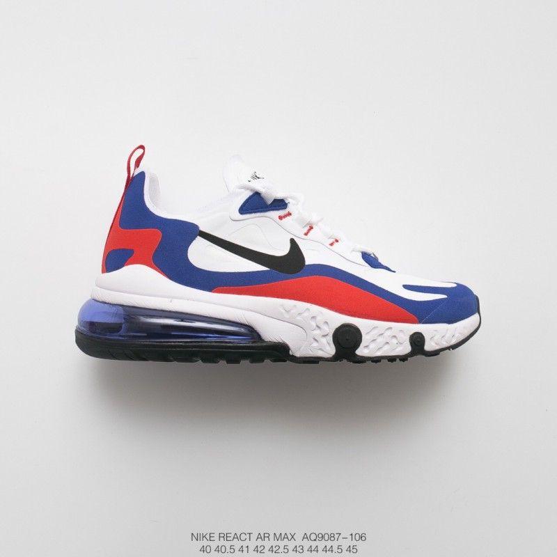 Nike Air Max React 270 AQ9087 183 Black White Mens Running Shoes Online