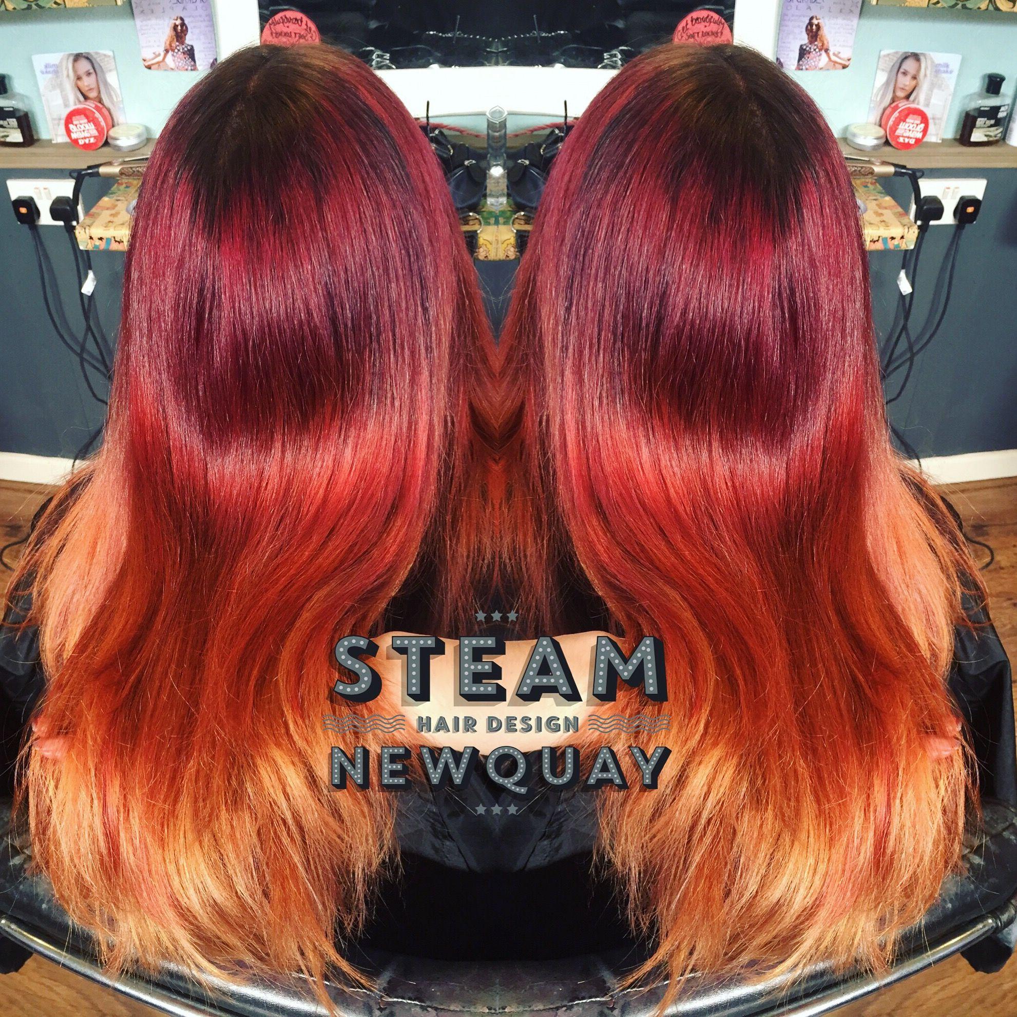 fire hair red copper phoenix auburn