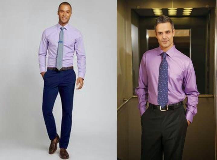 Ideas para combinar camisa lila vestuario de hombre - Combinar color lila ...
