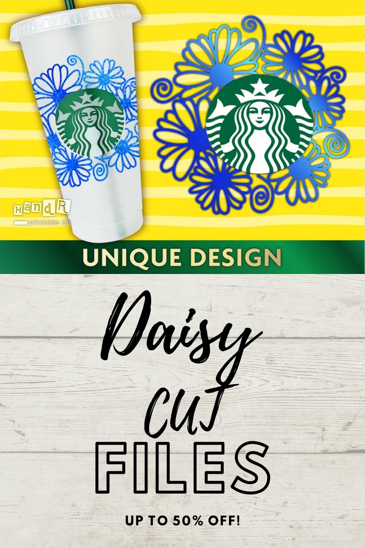 Daisy personalized Starbucks cup SVG, Cricut, Vector in 2020