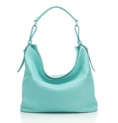 Tiffany Co Taylor Hobo Italian Leather Purse In Classic Blue 995 Via Com