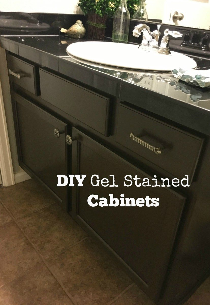 Gel Staining Builder Grade Oak Cabinets