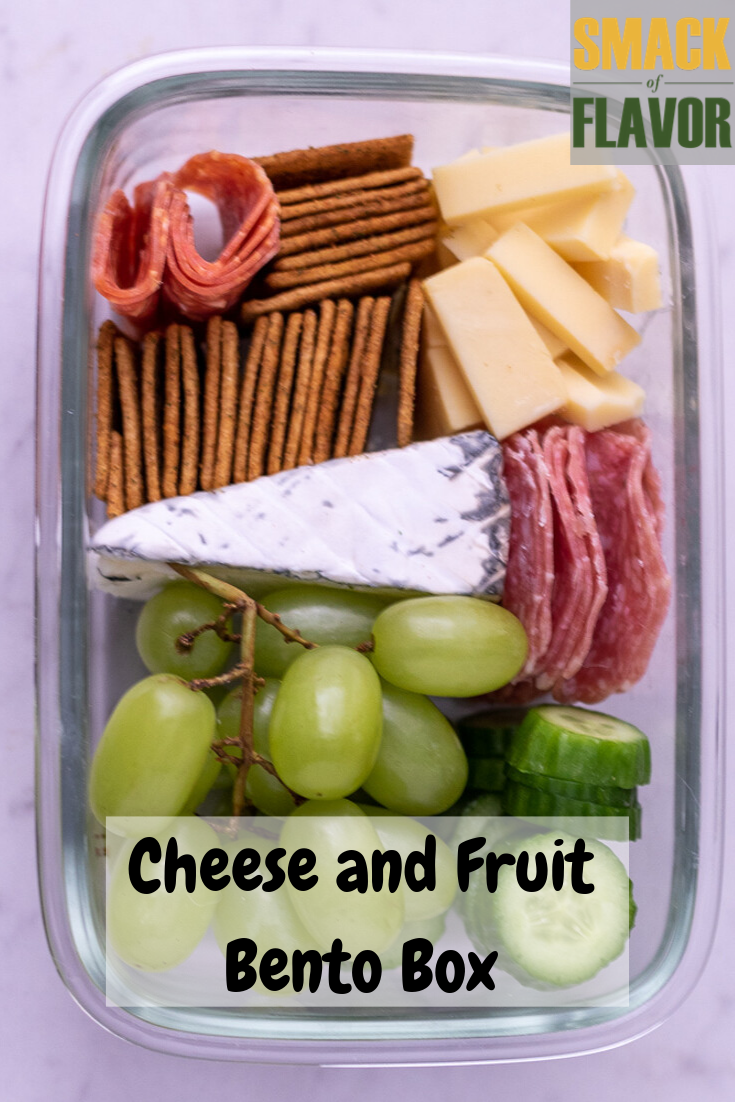 Cheese and Fruit Bento Box #bentoboxlunch