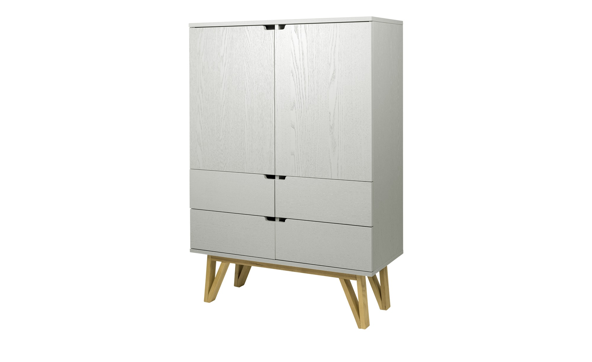 Highboard Lorens Grau Masse Cm B 92 H 110 T 39 Kommoden