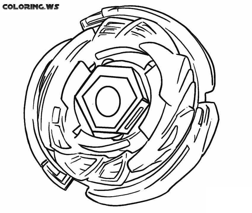 Beyblade 07 Coloring Pages Printable Coloring Printable