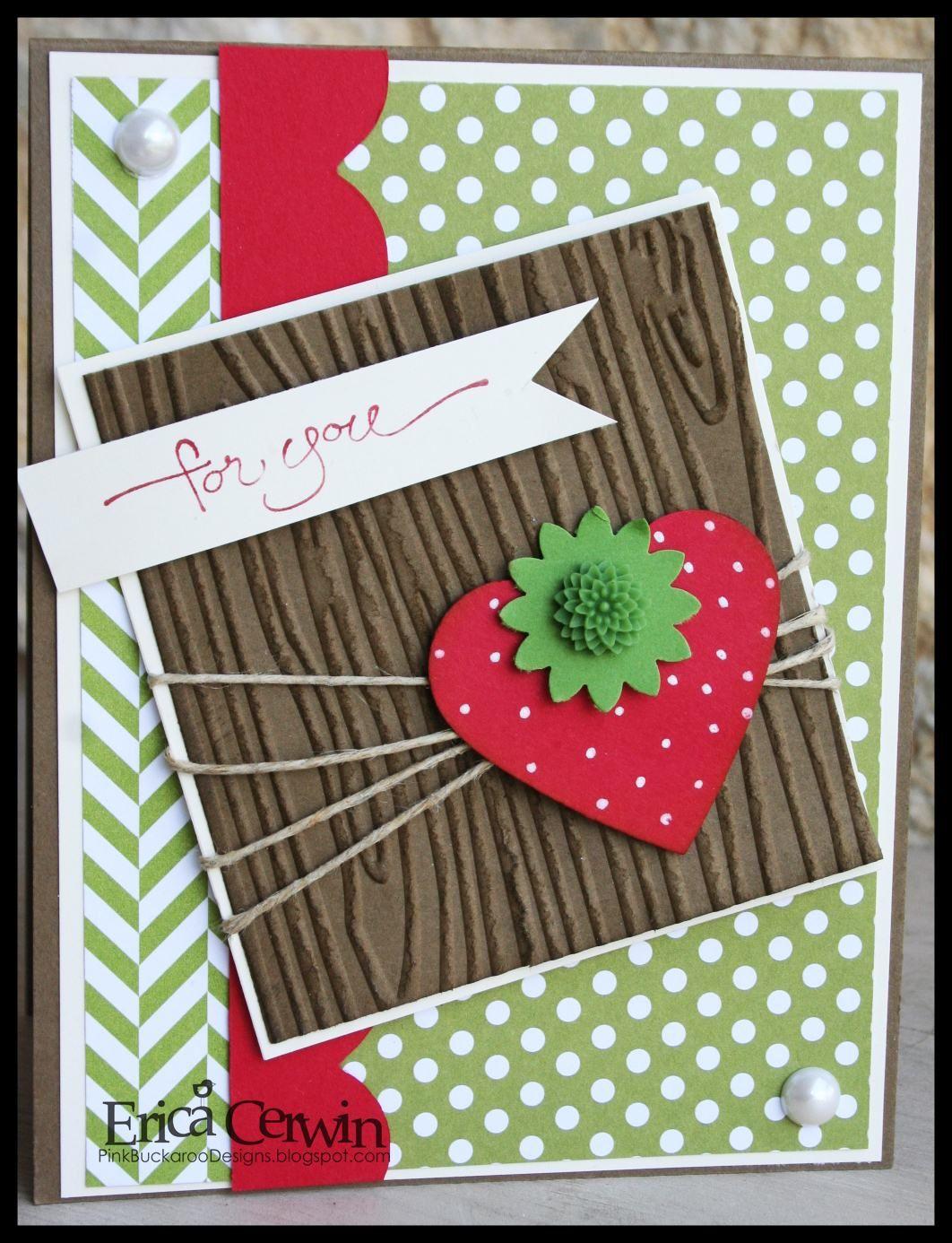 strawberry, stampin' up! new dahlia
