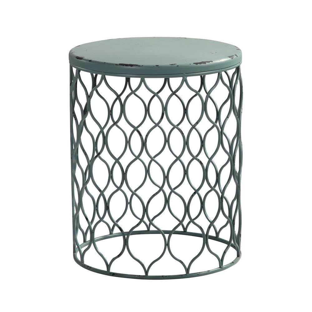 Firstime co 21 in rory antique teal table products