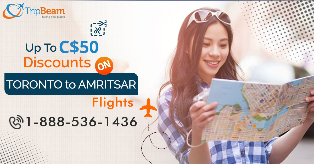 Best Deals on Toronto to Amritsar Flights!! Get Up To C$50 discount on Flights Booking with #Tripbeam!. Choose the best flight and save more. Book now.  For more information: Contact us at: 1-888-536-1436 (Toll-Free), info@tripbeam.ca  #TraveltoAmritsar #punjab #goldentemple #visitindia #visitamritsar #cheapflightstoAmritsar #FlightsToAmritsar #CheapTicketsToAmritsar #TravelOnline #BookNow