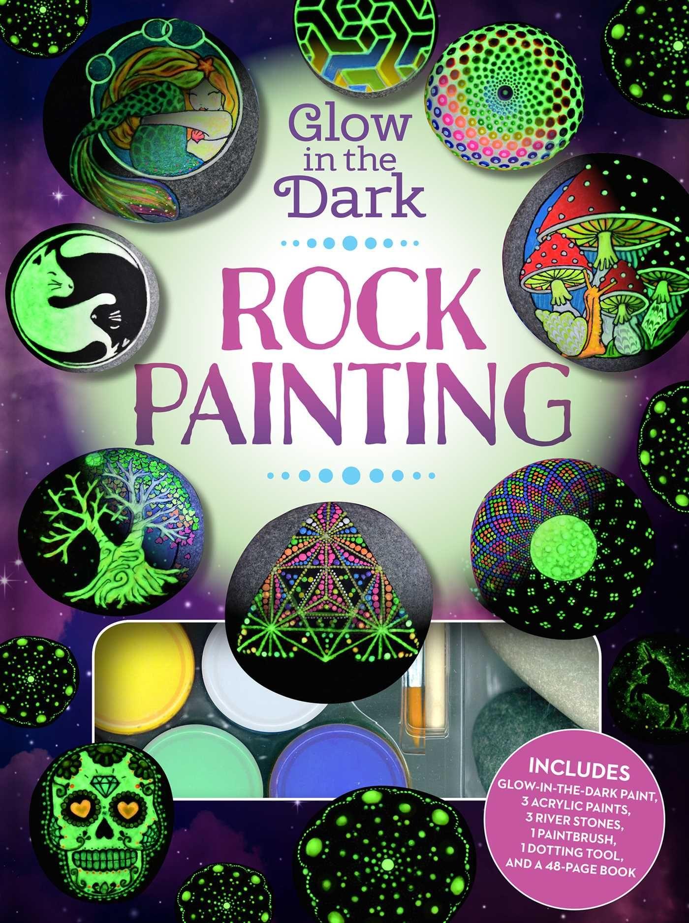 Glow In The Dark Rock Painting Walmart Com In 2021 Painted Rocks Rock Painting Patterns Glow In The Dark