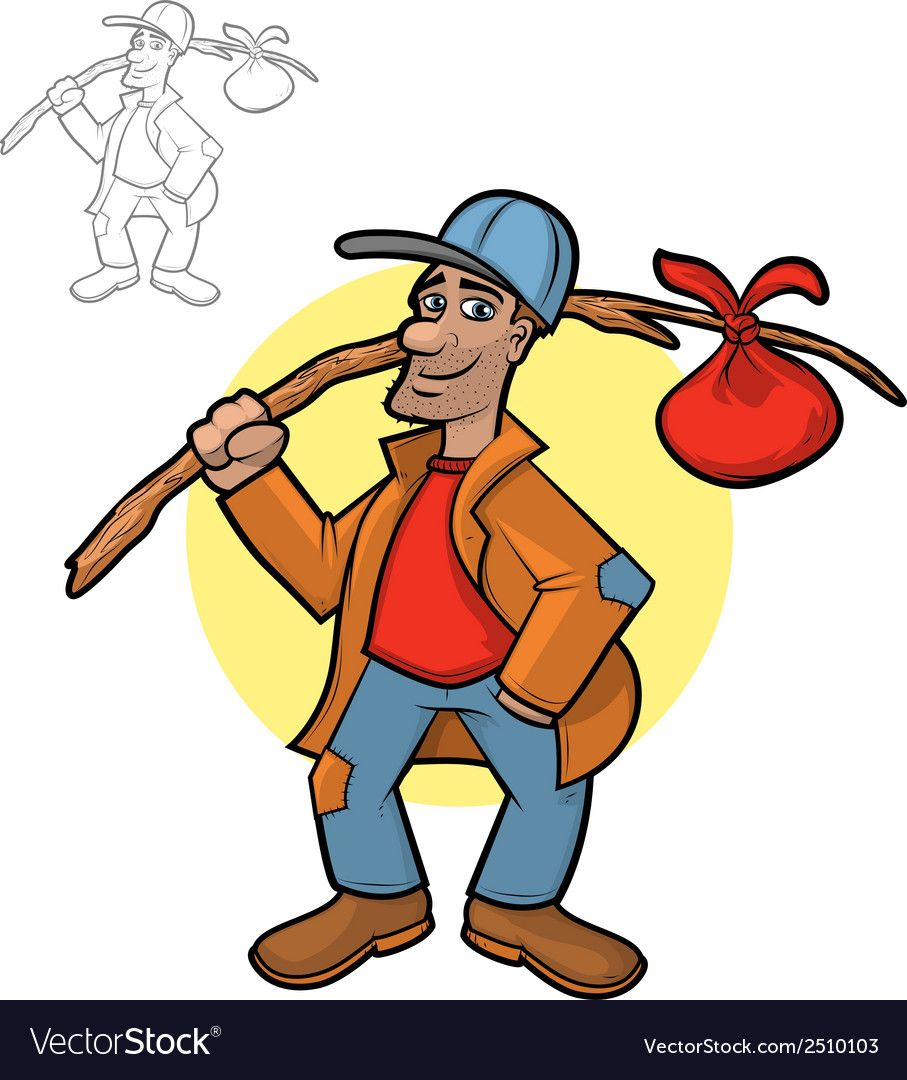 Hobo Cartoon Royalty Free Vector Image  VectorStock