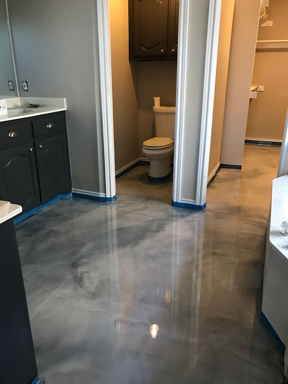 Decorative Concrete Metallic Epoxy Floors In Dallas Bathroom Design Interior Floorrescue Metallic Epoxy Floor Epoxy Floor Diy Flooring