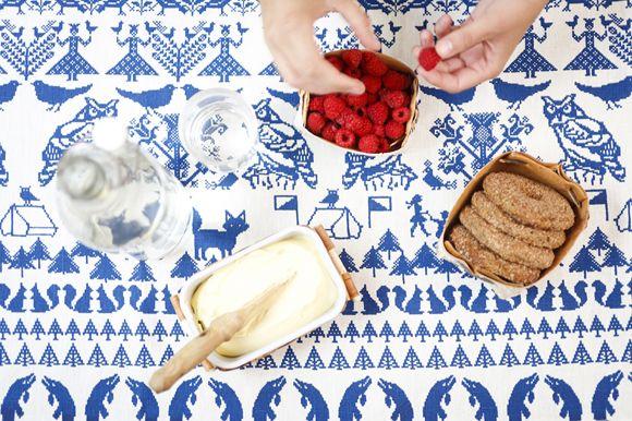 Hemp tablecloth by saana ja olli of Finland