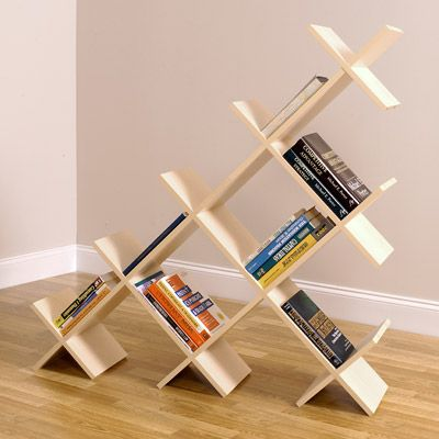 ++ 5' wide pyramid bookshelf