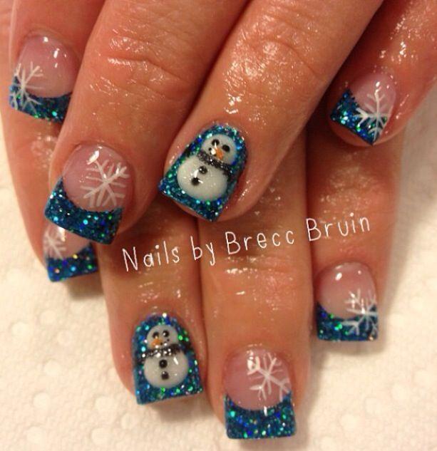 Cute Christmas Acrylic Nail Designs