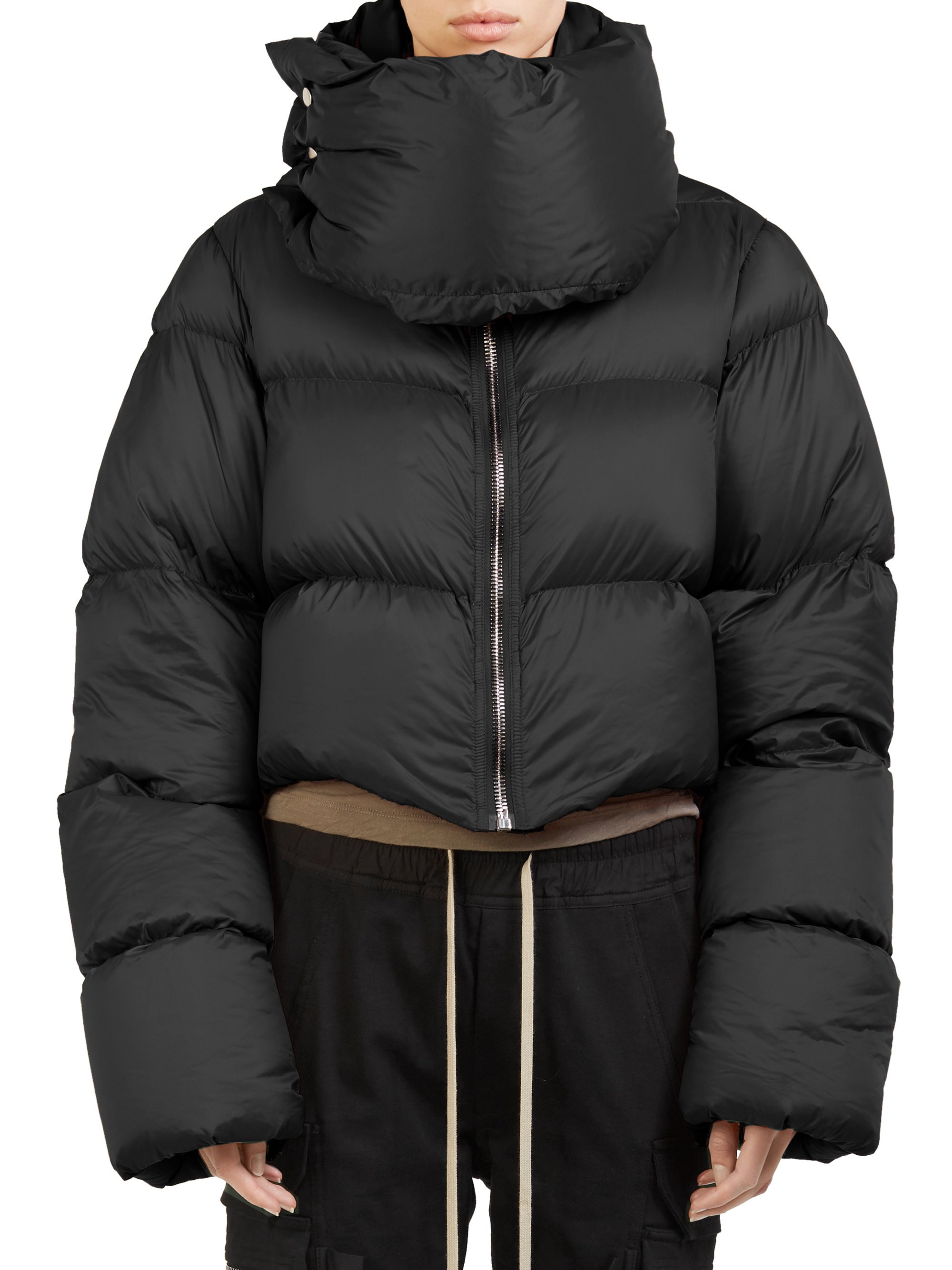 Rick Owens Funnel Neck Cropped Puffer Jacket Black 46 10 Jackets Puffer Jacket Black Puffer [ 2667 x 2000 Pixel ]