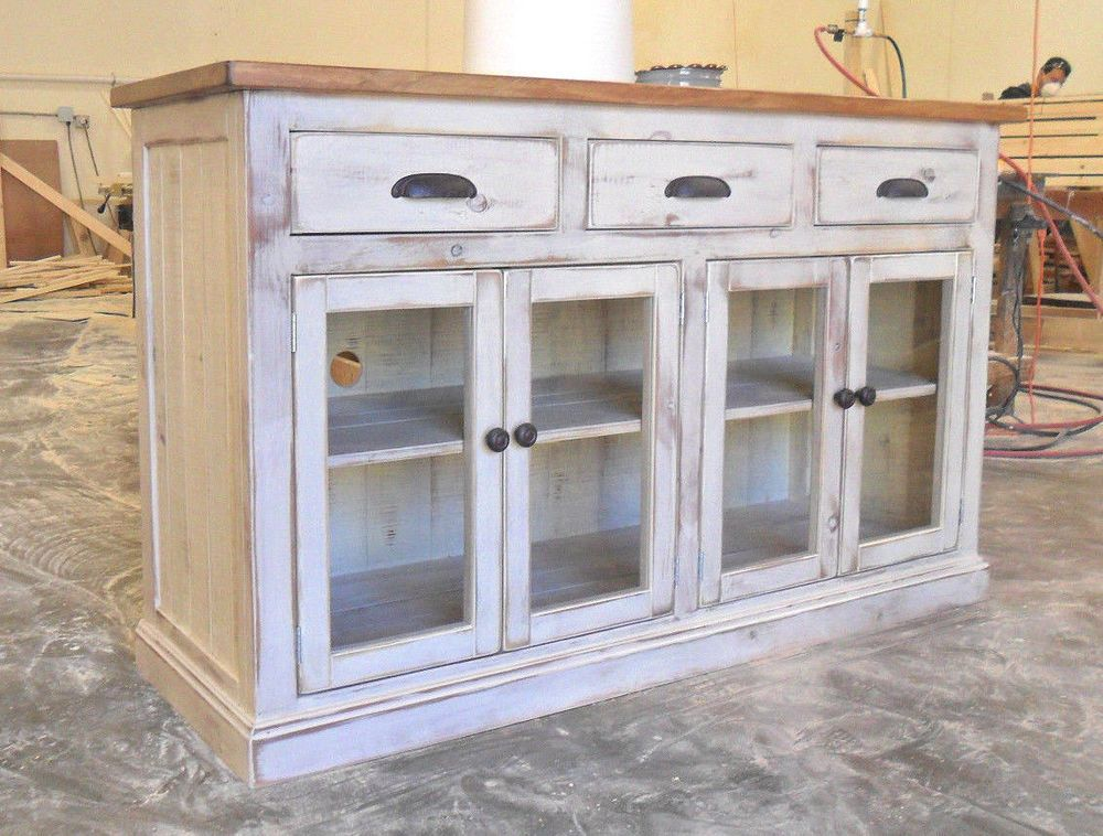 reclaimed wood rustic tv stand unit buffet console cabinet