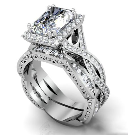 trendy images about ring on pinterest engagement rings princess cut diamonds and canary diamond - Tacori Wedding Rings