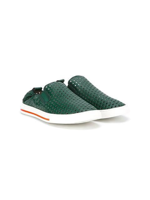 b48a429ddf9 Shop Stella Mccartney Kids Leo slip-on sneakers.