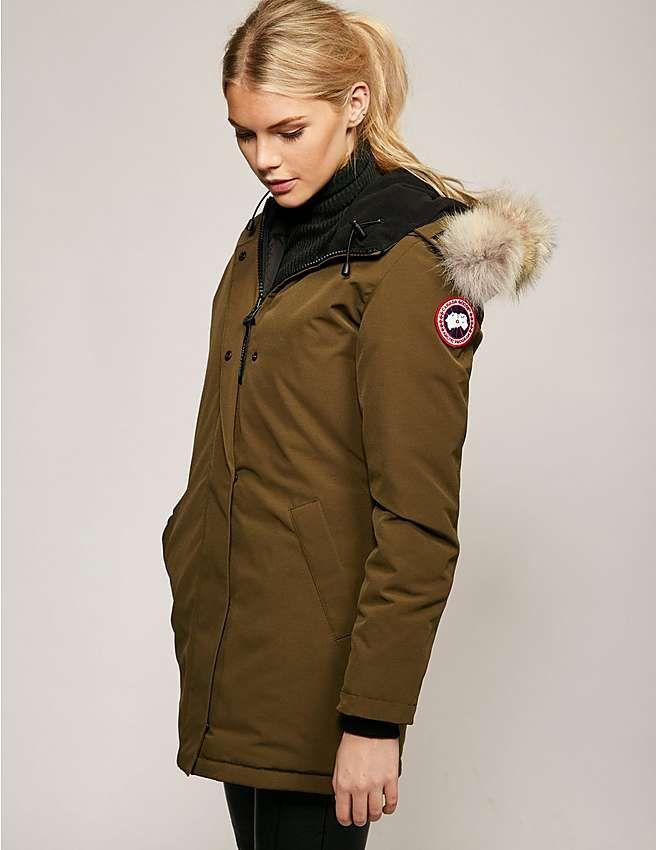 green Canada Goose Victoria Parka Jacket