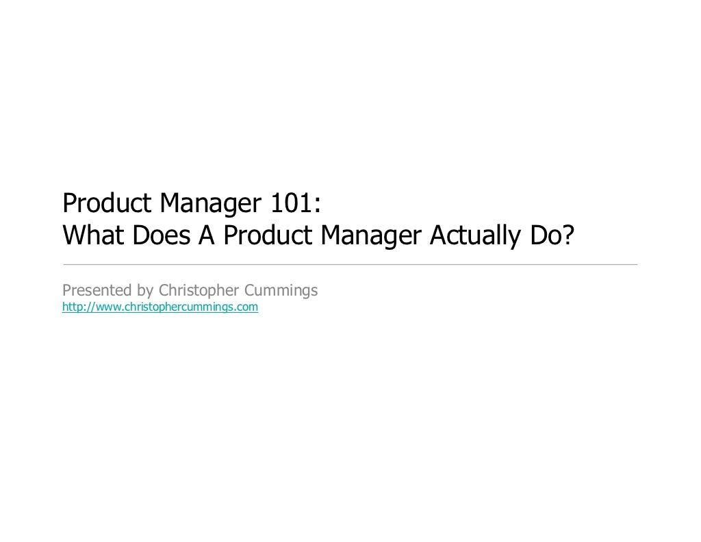 what does a product manager do