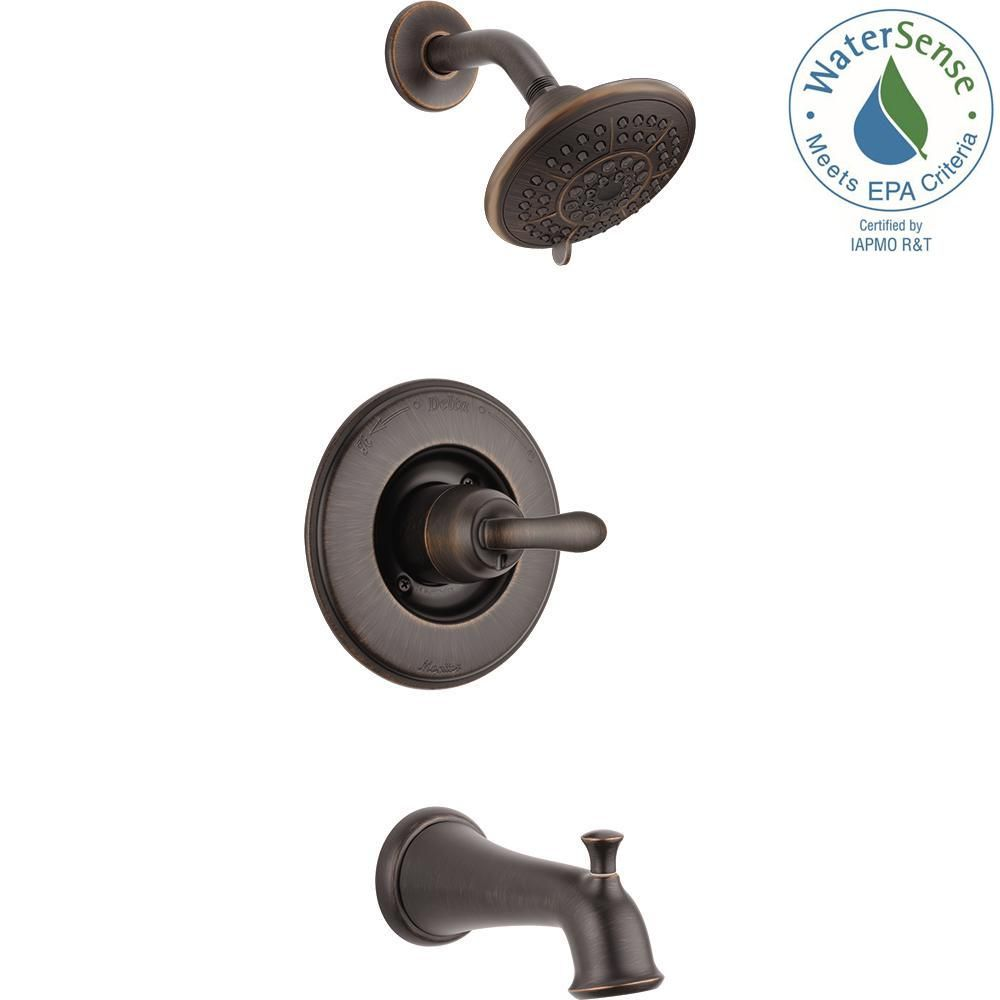Delta Linden 1-Handle 1-Spray Tub and Shower Faucet Trim Kit in ...