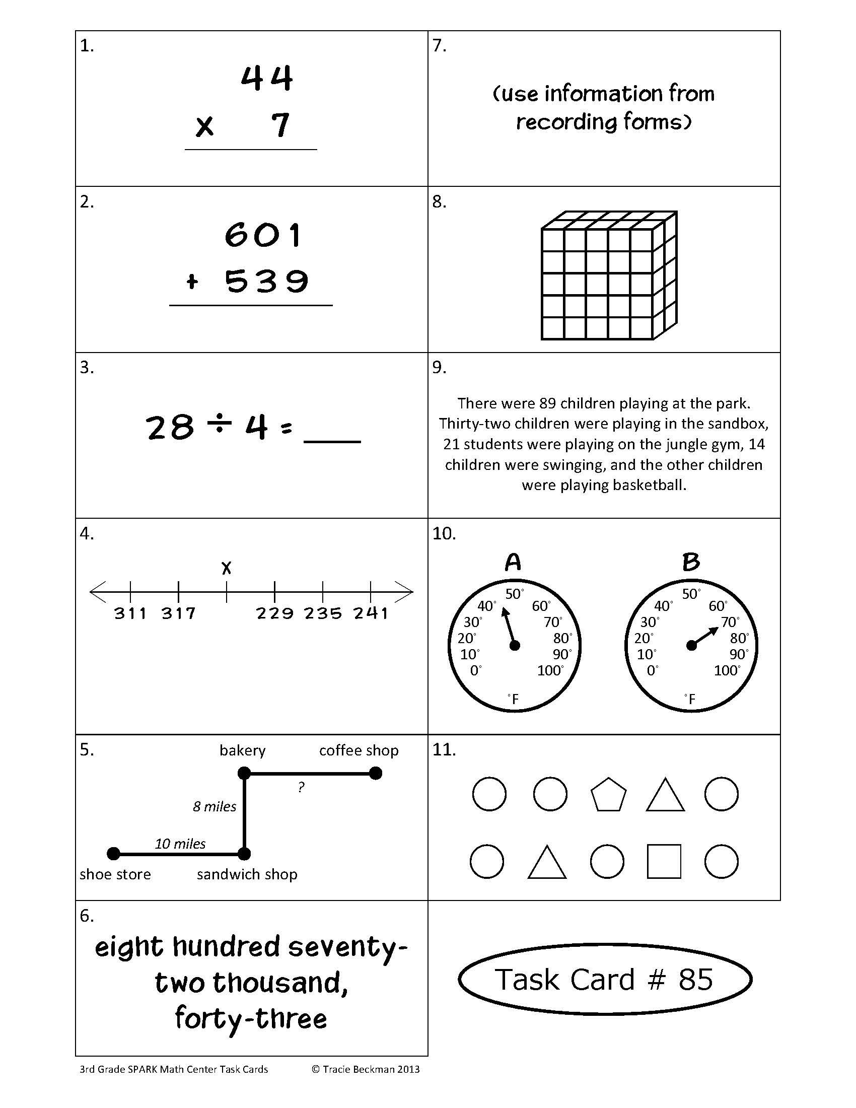 Spiraled Staar Common Core Math Review For 3rd Grade