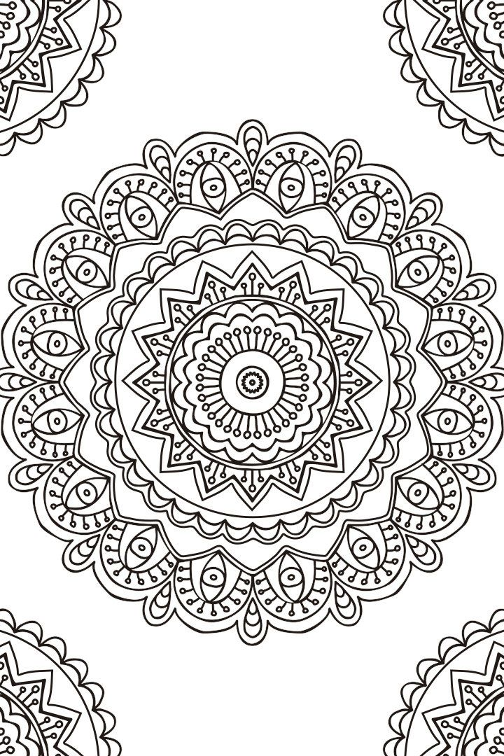 Mandala descargable para colorear 2 zentangle - Formas de pintar una pared ...