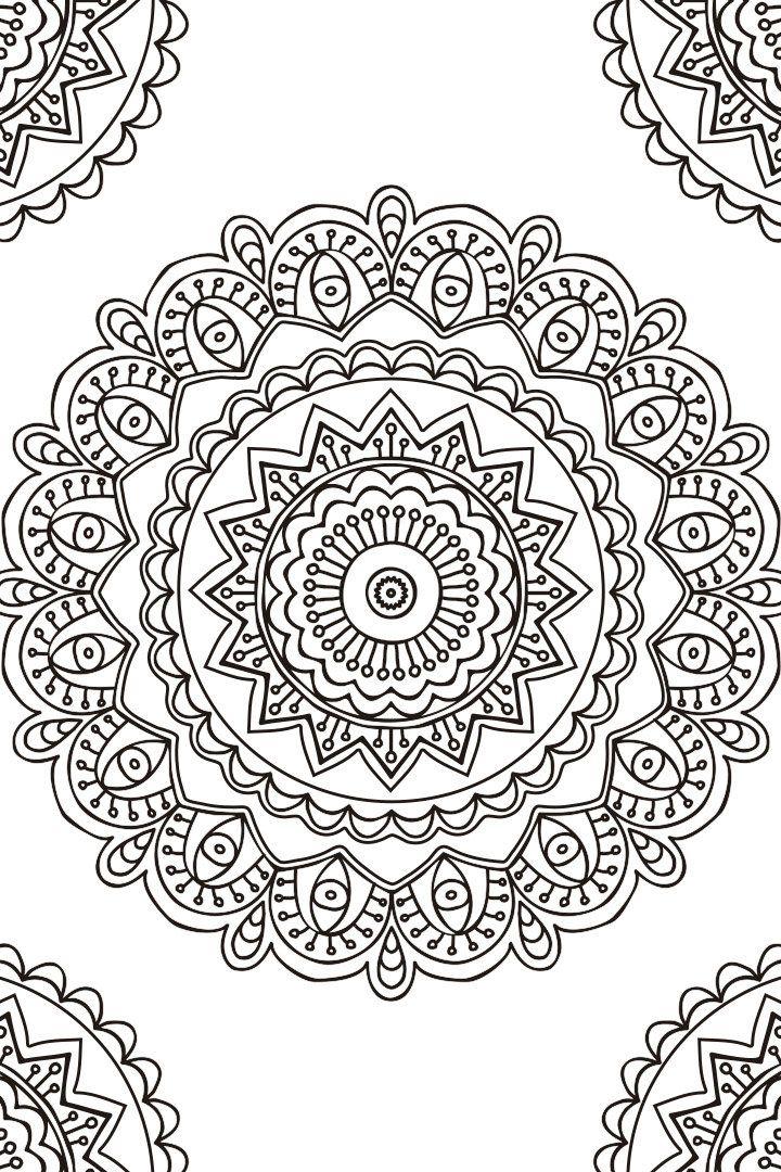 Mandala descargable para colorear 2 | mandalas | Pinterest ...